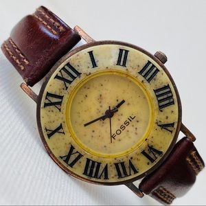 Vintage Fossil Men's Stone Watch